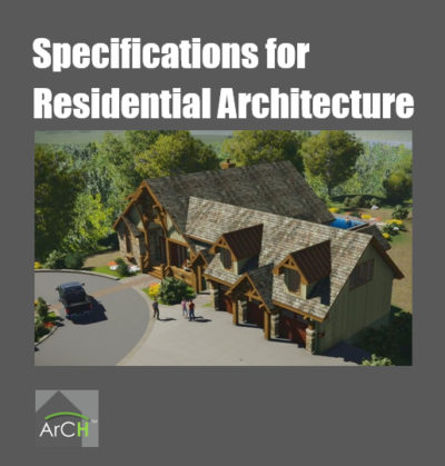 specifications for residential architecture